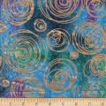 Textile Creations Urban Ethnic Metallic Circles Purple/Turquoise