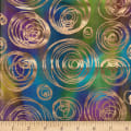 Textile Creations Urban Ethnic Metallic Circles Blue/Green/Purple