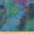 Textile Creations Urban Ethnic Metallic Dot Grid Purple/Teal
