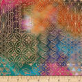 Textile Creations Urban Ethnic Metallic Patch Orange/Green/Purple