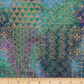 Textile Creations Urban Ethnic Metallic Patch Purple/Turquoise/Teal