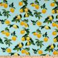 Fabtrends Rayon Soleil Lemon Branches Mint