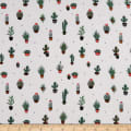Fabtrends Rayon Soleil Cactus In A Pot Off White
