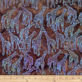 Batik by Mirah Cappuccino Giraffes Brown Rumba