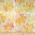 Batik by Mirah Cupcake Leaves Meta Yellow