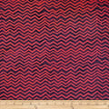 Batik by Mirah Chameleon Chevrons Vino Purple