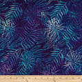Batik by Mirah Orchard Leaves Blue Empress