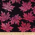 Batik by Mirah Orchard Leaves Pinky Black