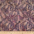 Batik by Mirah Rustic Route Giraffes Kalahari Brown