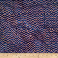 Batik by Mirah Rustic Route Chevrons Hansi Blue