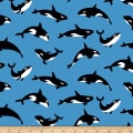 Riley Blake Northwest Orcas Blue