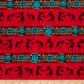 Whistler Studios Coyote Canyon Kokopelli Stripe Red
