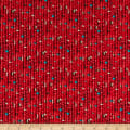 Whistler Studios Fabrics Coyote Canyon  Beads Red