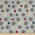 American Rustic Stars on Wood Grey