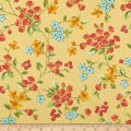 Andover Roseberry Cottage Flowers Yellow