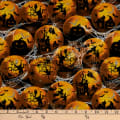 Fabric Traditions Halloween Globes Cotton With Glitter