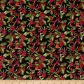 Fabric Traditions Holiday Holly With Glitter Multi
