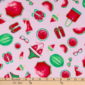 Timeless Treasures Watermelon Party Summertime Pink