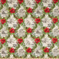 In The Beginning Fabrics A Poinsettia Winter Winter Scenes Red/Green