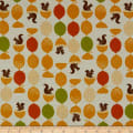 Kaufman Sevenberry Canvas Squirrels Citrus