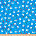 QT Fabrics Digital Jesus Loves Me Doves Blue