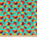 EXCLUSIVE Sesame Street Digital Tossed Elmo Faces Aqua