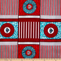 Shawn Pahwa African Print Nhalahla Red/Blue