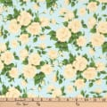 Liberty Fabrics Silk Crepe de Chine Carline Rose Yellow