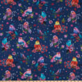3 Wishes Digital Bright Birds Floral Bird Navy