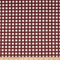 Techno Scuba Knit Checkered Burgundy