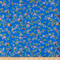 Bella Twill Prints Blue Mini Floral