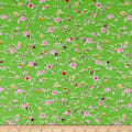 Bella Twill Prints Green Mini Floral