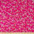 Bella Twill Prints Hot Pink Mini Floral