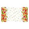 "Clothworks Zinnias In Bloom Border Print 24"" Panel Light Cream"
