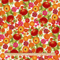 Clothworks Zinnias In Bloom Toss Orange