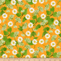Clothworks Zinnias In Bloom Toss Light Orange