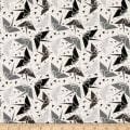 Stoffabric Denmark Bubblegrid Cranes Cream