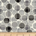 Stoffabric Denmark Bubblegrid Dots & Grid Taupe