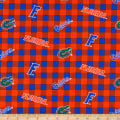NCAA Florida Gators Buffalo Plaid Cotton