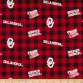 NCAA Oklahoma Sooners Buffalo Plaid Cotton