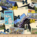 NCAA Michigan Wolverines Scenic Postcard Cotton Multi