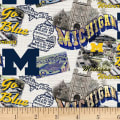 NCAA Michigan Wolverines Scenic Map Cotton Multi