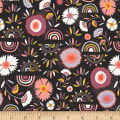 Art Gallery Kushukuru Rayon Challis Divine Pacha Black/Purple/Orange/White