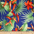 Trans-Pacific Textiles Rayon Challis Paradise Found Navy