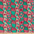 Supreme Holland African Wax Print 6 Yards Green Blocks