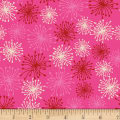 Stoffabric Denmark Blooming Garden Blow Flowers Pink