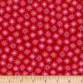 Stoffabric Denmark Blooming Garden Small Flowers Dark PinK