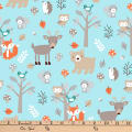 """Exclusive Fabric Editions 36"""" x 42"""" Pre-Cut Sweet Woodlanders Flannel"""
