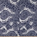 Fabric Merchants ITY Jersey Knit Allover Floral Navy/Ivory