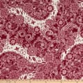 Fabric Merchants ITY Jersey Knit Allover Floral Wine/Ivory